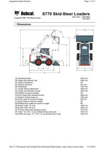 BOBCAT 553 Specification PDF data sheet