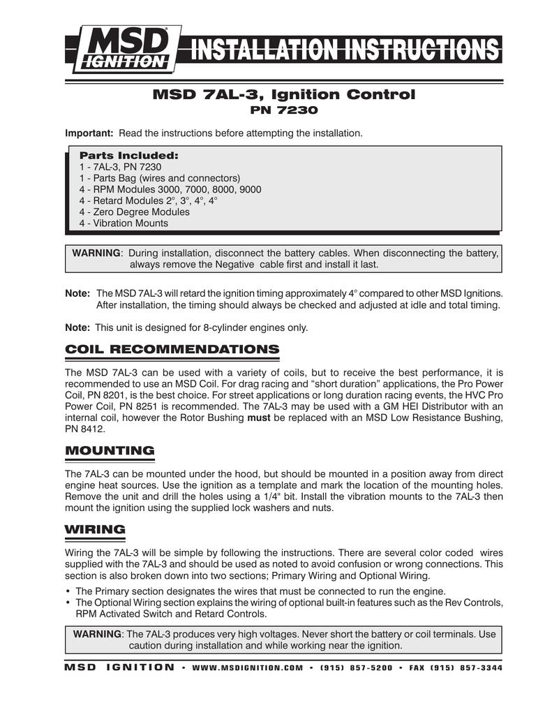 Msd 7al Wiring Diagram MSD Box Wiring Diagram • Bakdesigns.co