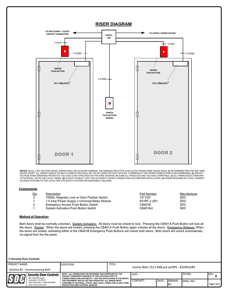 hight resolution of riser diagram security door controls rh studylib net fire system riser fire alarm system wiring diagram