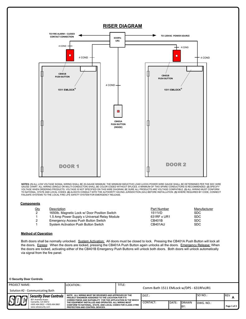 hight resolution of riser diagram security door controls rh studylib net fire system riser fire alarm system wiring diagram