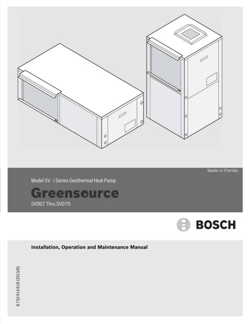 small resolution of model sv i series geothermal heat pump sv007 thru sv070 residential electrical wiring diagrams bosch geothermal wiring diagram