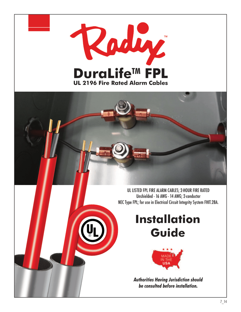 medium resolution of fire alarm cable installation