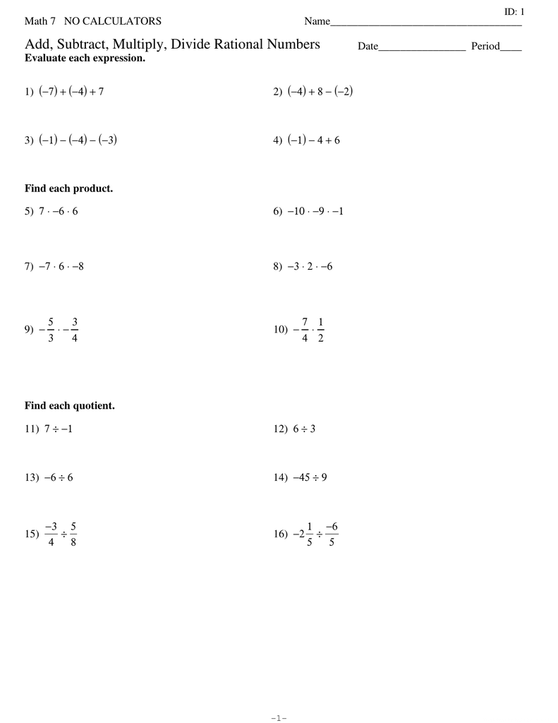 medium resolution of 32 Adding And Subtracting Rational Numbers Worksheet 7th Grade - Worksheet  Project List
