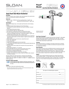 CROWN 195 ESS Flushometers Information Sheet