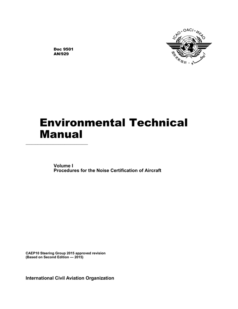 Environmental Technical Manual