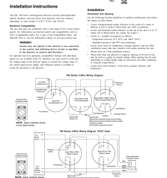 esl 700 series california state fire marshal approved mea new york city approved commercial self diagnostic smoke detectors installation instructions  [ 791 x 1024 Pixel ]