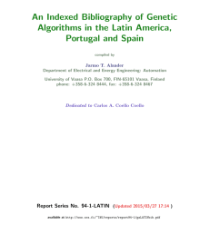 an indexed bibliography of genetic algorithms in the latin america portugal and spain compiled by jarmo t alander department of electrical and energy  [ 791 x 1024 Pixel ]