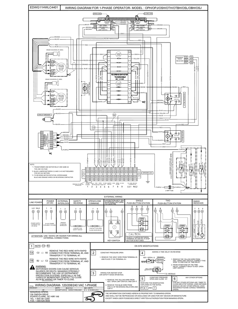 medium resolution of wiring diagram for 1 phase operator orange brown yellow wiring schematic