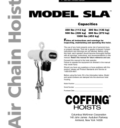 model sla air chain hoist cm chain hoist parts cm hoist wiring diagram 600 pound [ 791 x 1024 Pixel ]
