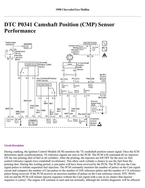 small resolution of dtc p0341 camshaft position cmp sensor performance cmp sensor wiring diagram cmp wiring diagram