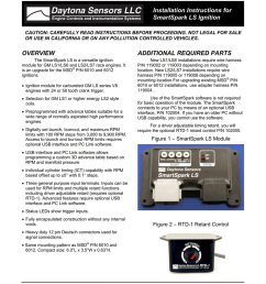daytona sensors llc engine controls and instrumentation systems installation instructions for smartspark ls ignition caution carefully read instructions  [ 791 x 1024 Pixel ]