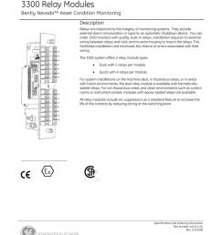 ge bently nevada 3300 relay modules datasheet pdf [ 791 x 1024 Pixel ]