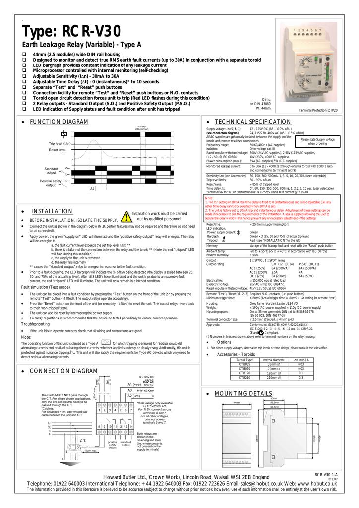 Installation guide RCR-V30