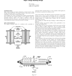 an overview of lapp insulator high voltage bushing design w a young lapp insulator company leroy ny 14482 usa introduction high voltage bushings are  [ 791 x 1024 Pixel ]