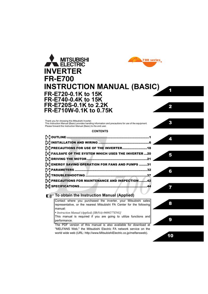 fr-e700 instruction manual (basic)