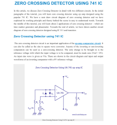 zero crossing detector using 741 ic in this article we discuss zero crossing detector in detail with two different circuits in the initial paragraphs of  [ 791 x 1024 Pixel ]