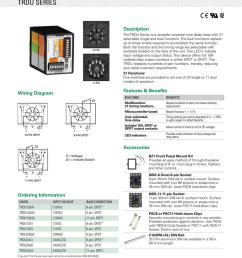 time delay relays multifunction trdu series description 8 pin 11 pin wiring diagram l1 l1 l1 n l2 n l2 l1 8 pin dpdt l1 n l2 n l2 8 pin spdt n l2 the trdu  [ 791 x 1024 Pixel ]