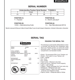 serial number wiring diagram for an older production unit please contact traulsen [ 791 x 1024 Pixel ]