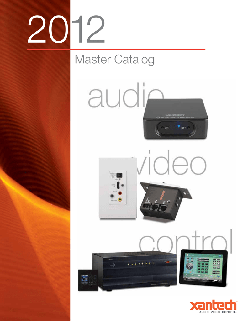 medium resolution of 2012 master catalog table of contents introduction to xantech 3 ir products