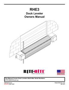 Operators Daily Checklist for Dock leveler