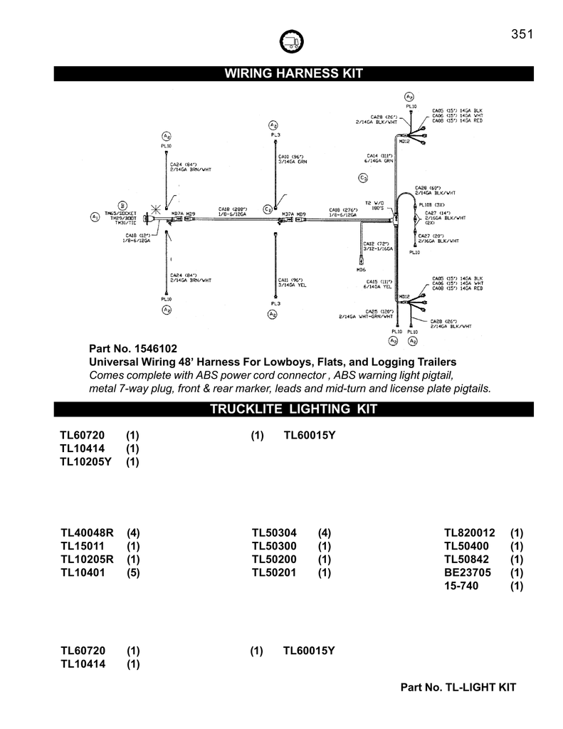 hight resolution of 4 3 wiring harnes kit