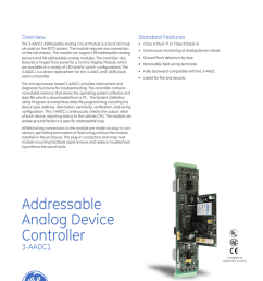 ge security est fire life safety est3 multiplexed fire alarm system overview standard features the 3 aadc1 addressable analog circuit module is a local  [ 791 x 1024 Pixel ]
