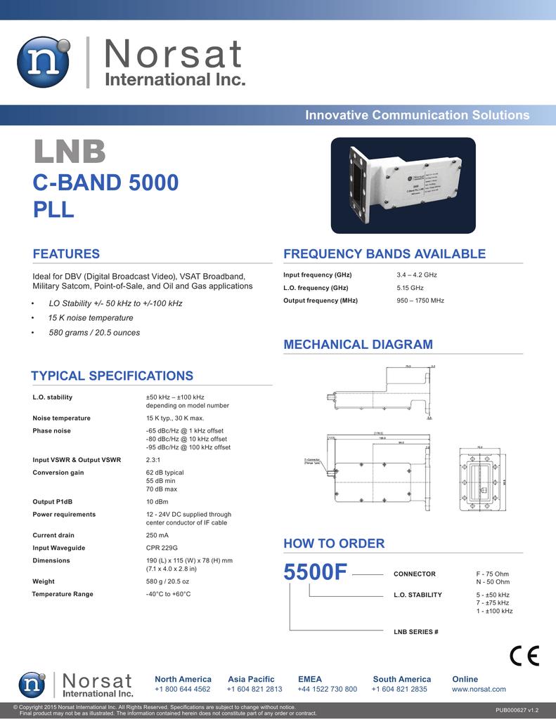 medium resolution of c band lnb circuit diagram