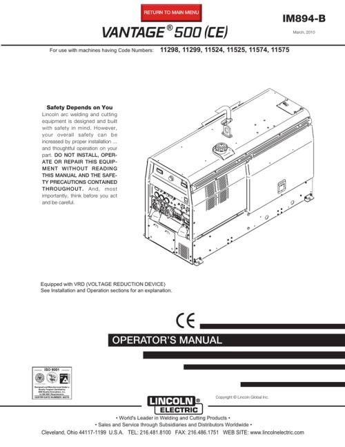 small resolution of vantage 500 user manual the rapid welding website