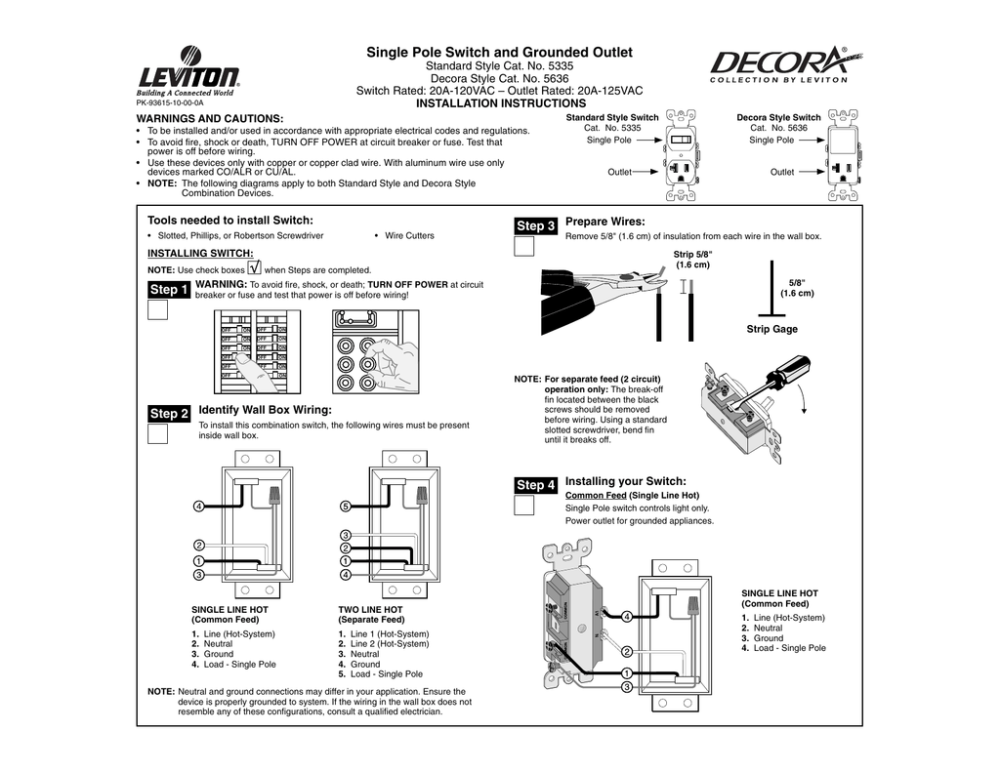 medium resolution of switch outlet combo wiring diagram