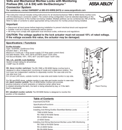 wiring diagrams by sargent locks wiring diagram post sargent wiring instructions for ecoflex electrified mortise [ 791 x 1024 Pixel ]