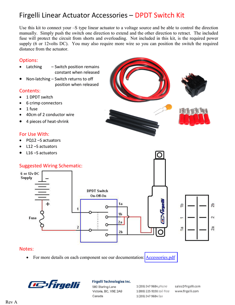 hight resolution of firgelli linear actuator accessories u2013 dpdt switch kitfirgelli linear actuator wiring diagram 4