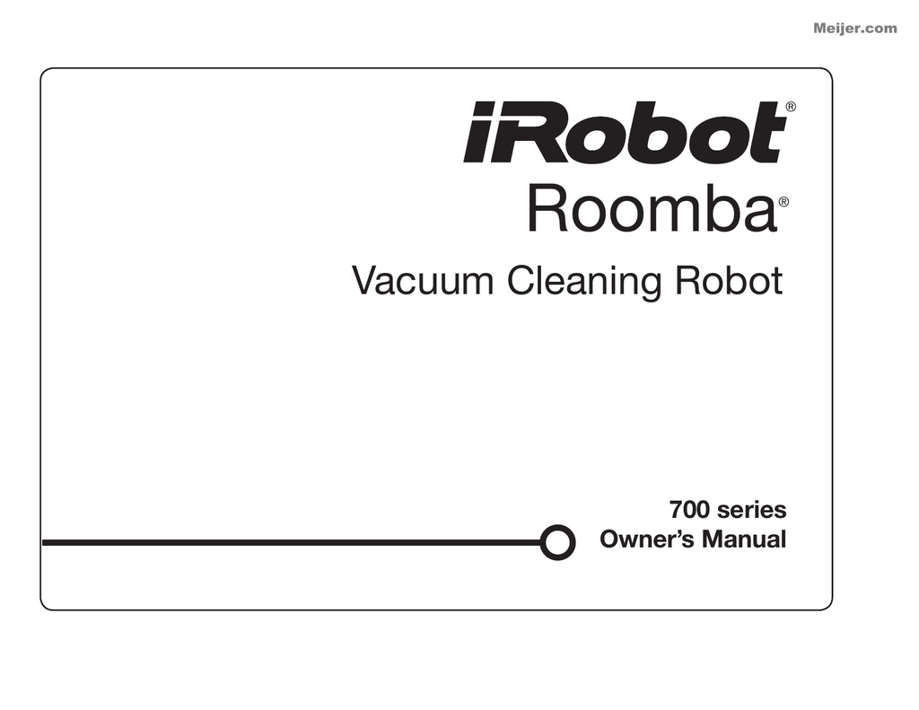 iRobot Roomba 770 Vacuum Cleaner User Guide Manual Instruction