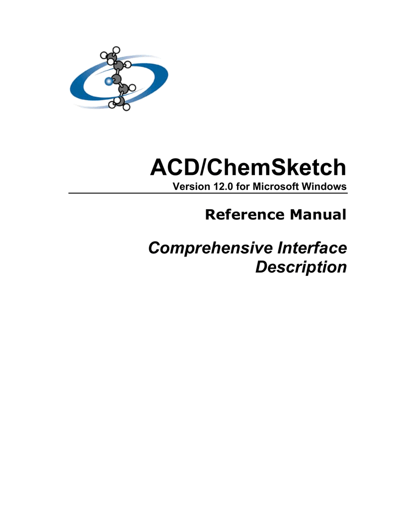 ACD/ChemSketch Reference Manual (ver 12.0)