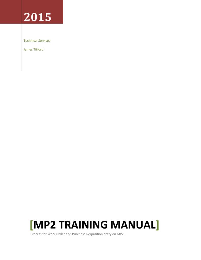 MP2 Training Manual