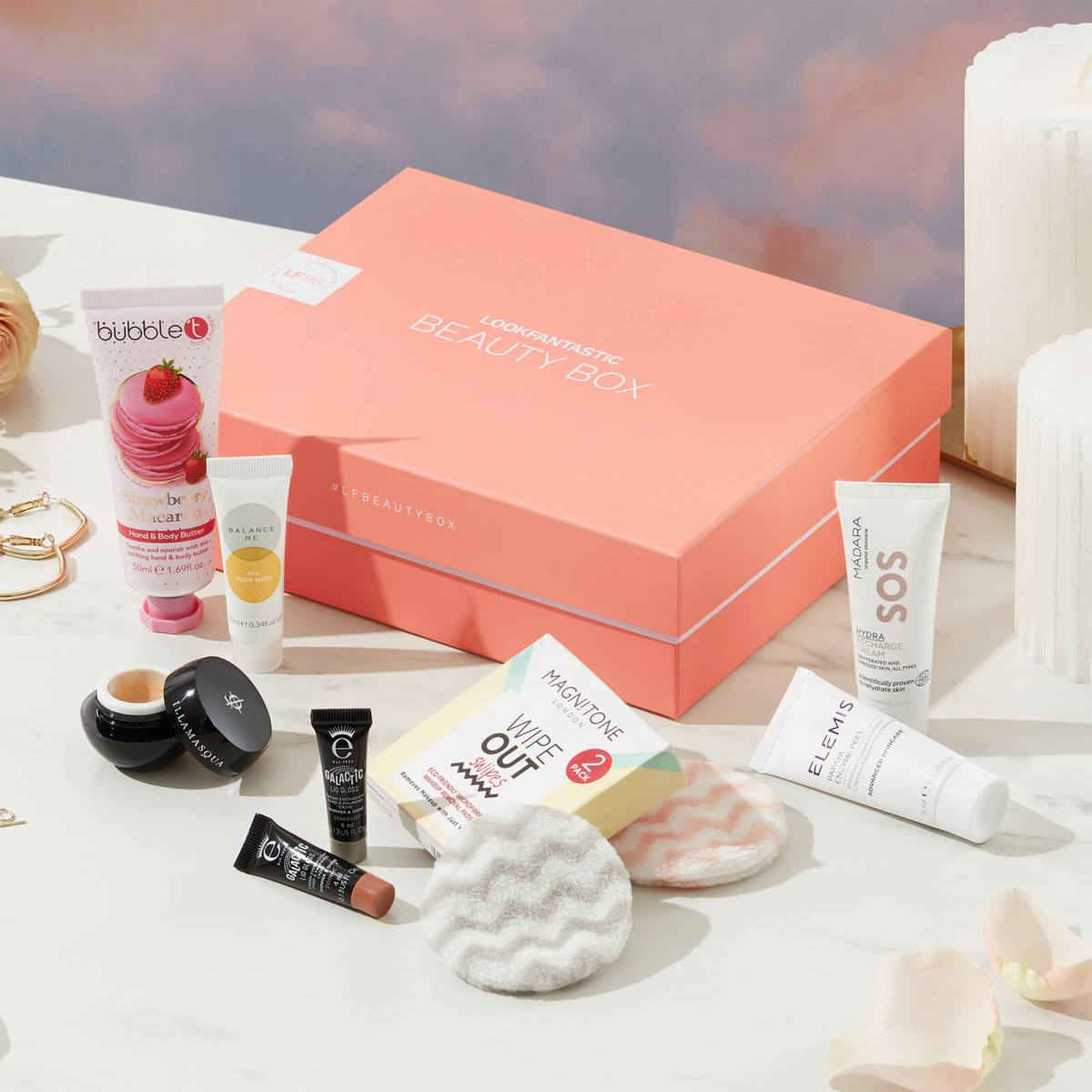 example of variety of products in a subscription box