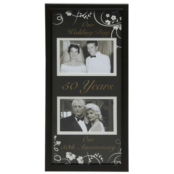 Moments Now and Then Picture Frame  50th Wedding Anniversary Traditional Gifts  TheHutcom