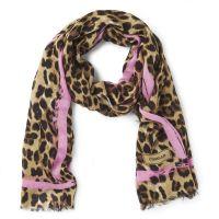 Codello Punk Love Leopard Print Scarf - Camel