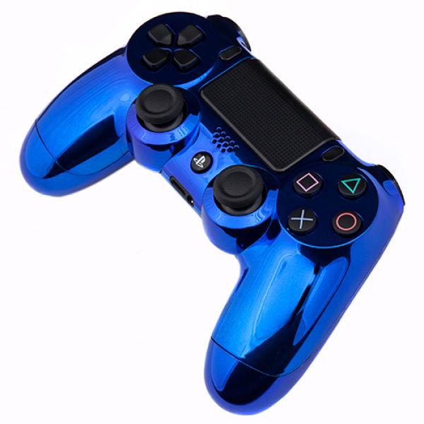 PlayStation DualShock 4 Custom Controller Chrome Blue
