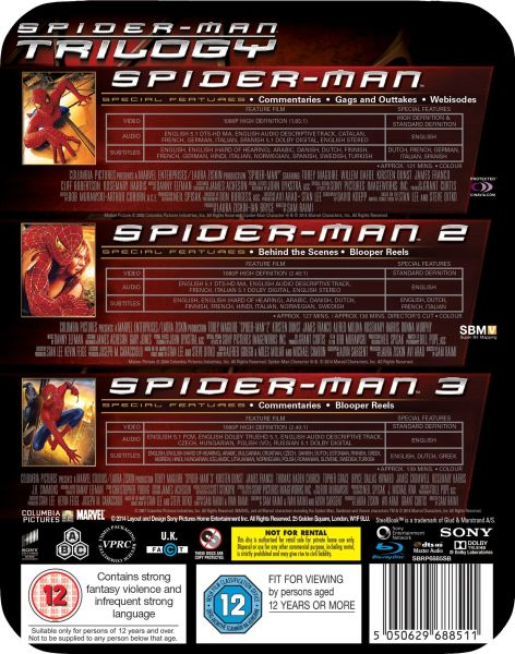 Spider Man Trilogy Steelbook Edition Blu Ray Zavvi