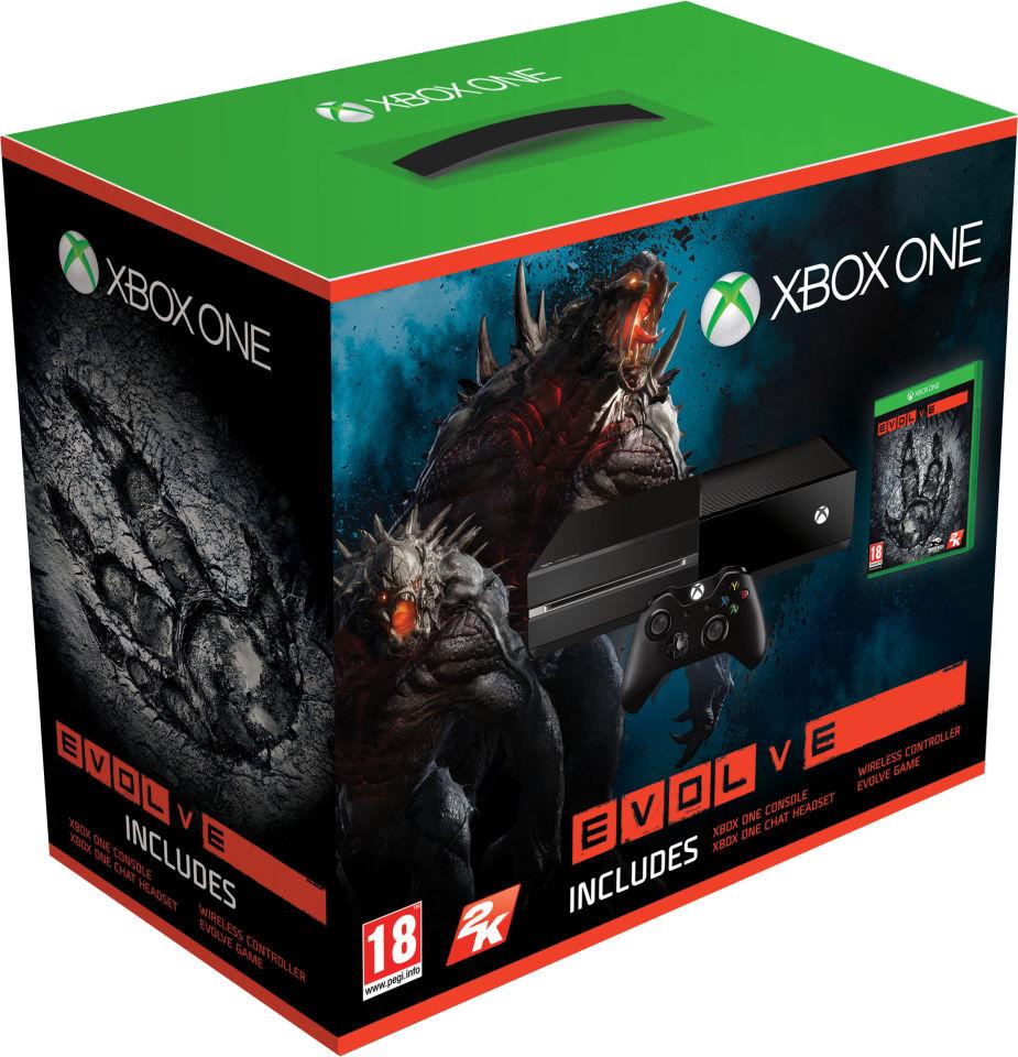 Xbox One 500GB Console Includes Evolve Games Consoles Zavvi