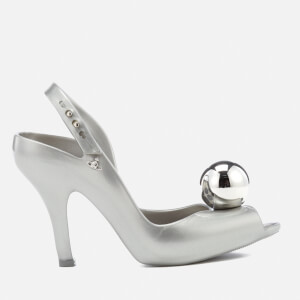 Vivienne Westwood for Melissa Women's Lady Dragon 18 Heeled Sandals - Silver Globe
