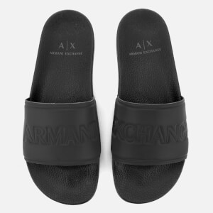 Armani Exchange Men's Slide Sandals - Nero