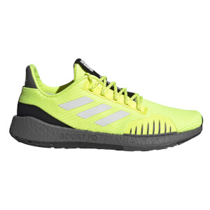 adidas Pulseboost HD PRCT Running Shoes - Grey/Black/Yellow