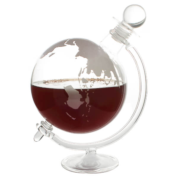 Glass Globe Whisky Decanter  IWOOT
