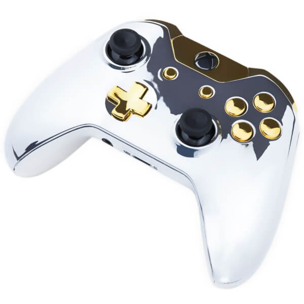 Xbox One Controller Chrome Silver Amp Gold Buttons Games Accessories