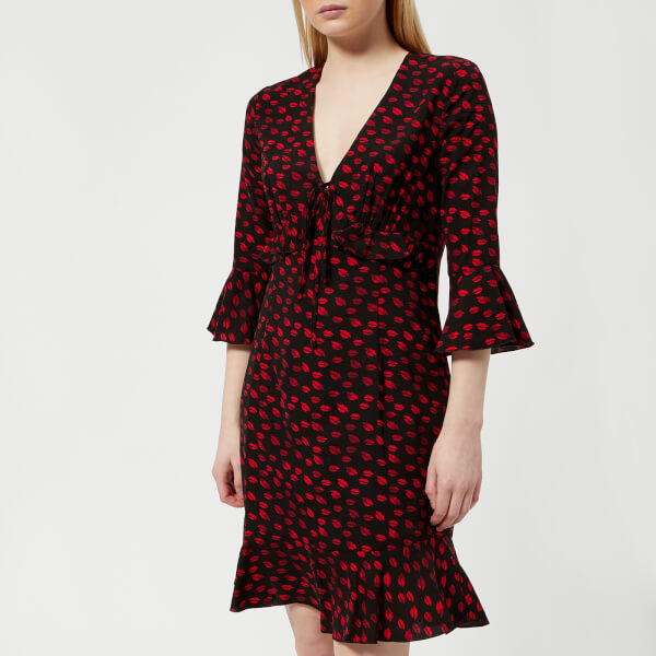 Guess Women's Penelope Dress - Kiss Black Print
