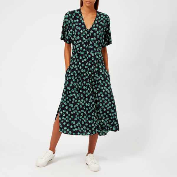 Whistles Women's Lenno Print Naya Button Dress