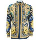 Versace Printed Silk Shirt Men