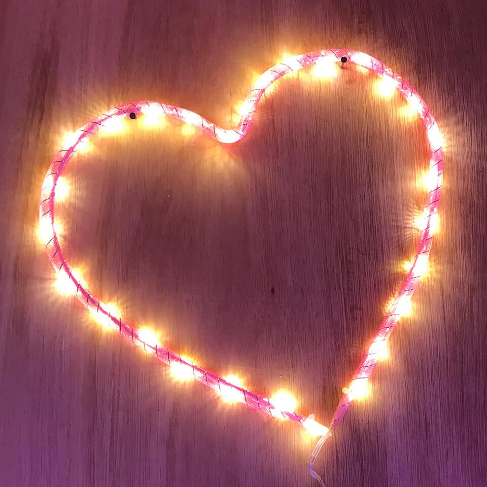 Nylon Heart Light Battery Operated Gifts  Zavvi
