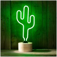 Cactus Neon Table Lamp - Green | IWOOT